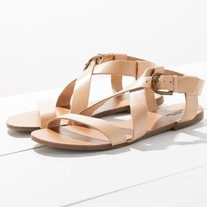 Urban Outfitters nude Leather Madison Sandals